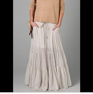 Free People Isn't She Peasant tiered maxi skirt